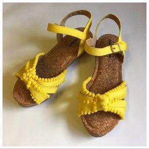 Hanna Andersson Karena Cork Wedge Sandals Girls 4M